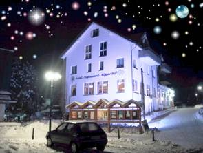 Hotel Restaurant Bigger Hof Front im Winter